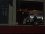 Really bad picture of the open kitchen