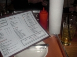 Menu and Table set-up